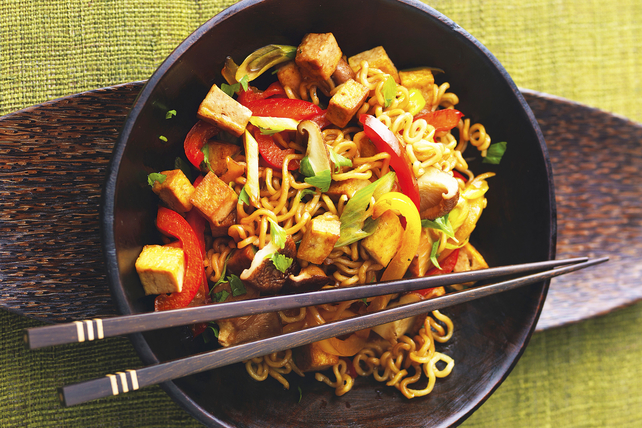 30-Minute Tofu and Noodle Stir-Fry with Peanut Sauce Image 1