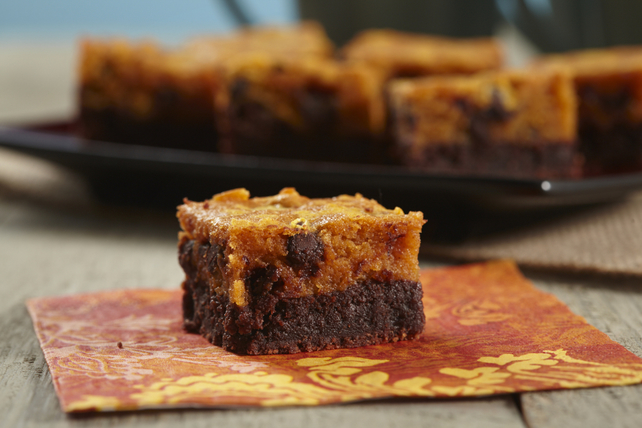 Layered Pumpkin Brownies Recipe