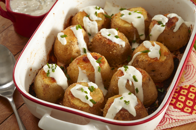 Baked Parmesan Fondant Potatoes Image 1