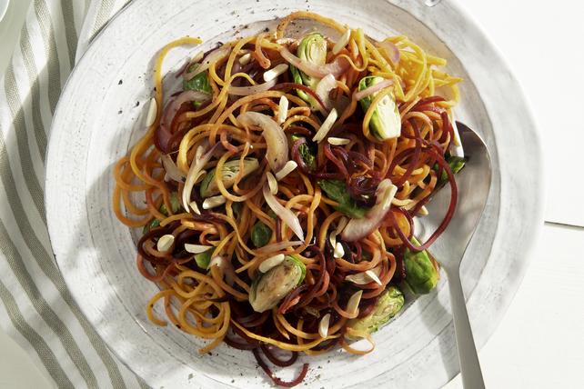 Mélange de légumes en spirales grillés Image 1