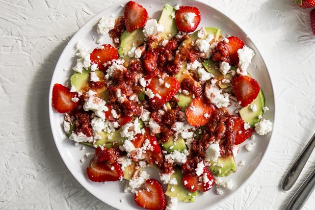 Strawberry, Avocado and Feta Salad Image 1