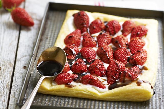 Tarte feuilletée aux fraises et au chocolat Image 1