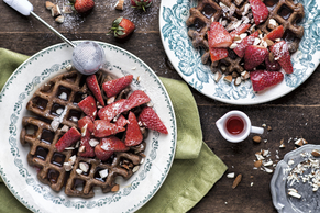 Chocolate-Oatmeal Waffles