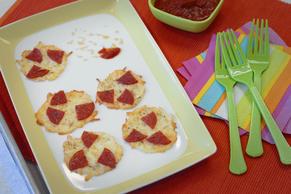 Mini No-Crust Pepperoni Pizzas