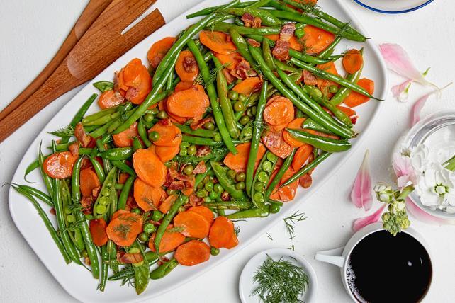 Mélange de légumes sautés avec bacon Image 1