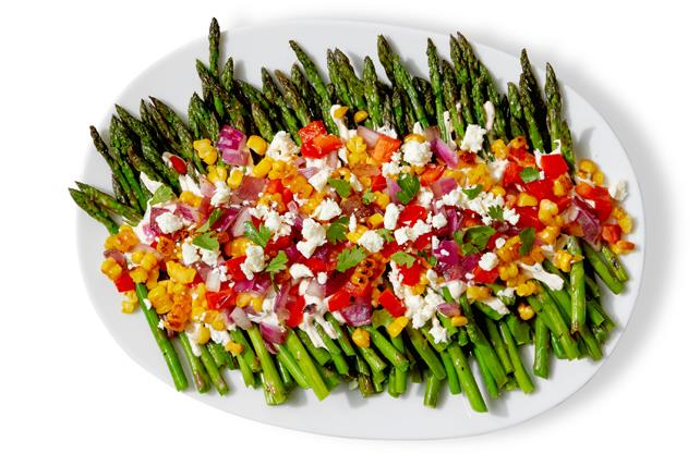 Smoky Asparagus with Corn Salsa