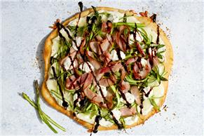Shaved Asparagus-Goat Cheese Pizza