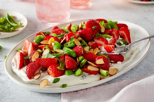 Strawberry & Sugar Snap Pea Salad Image 1