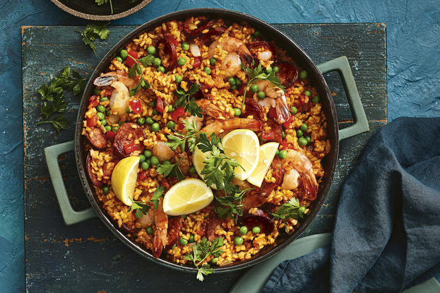 Electric Pressure Cooker Paella with Chorizo and Shrimp Image 1