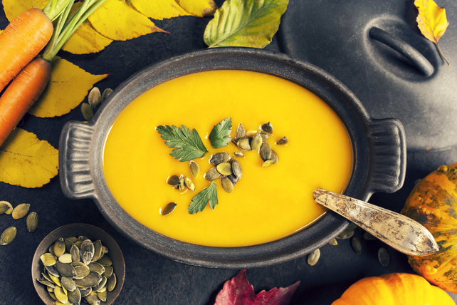 Spicy Carrot and Sweet Potato Soup Image 1