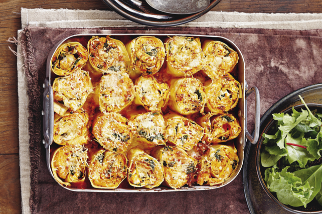 Rouleaux de lasagne aux épinards et au ricotta Image 1