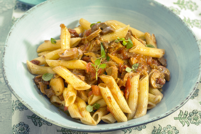 Spicy One-Pot Sausage and Penne Skillet Image 1