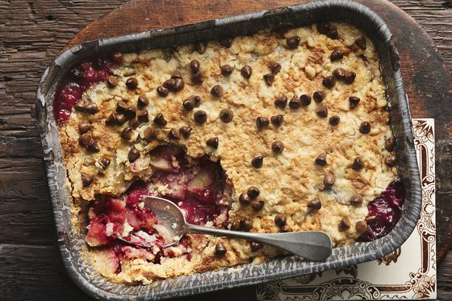 Gâteau-pouding aux pommes et aux framboises Image 1