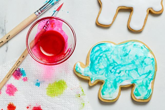 Watercolour Animal Cookies Image 1