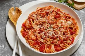 Electric Pressure Cooker Shrimp Arrabbiata