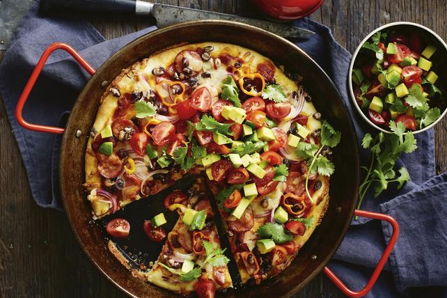 Pizza mexicaine à croûte épaisse Image 1