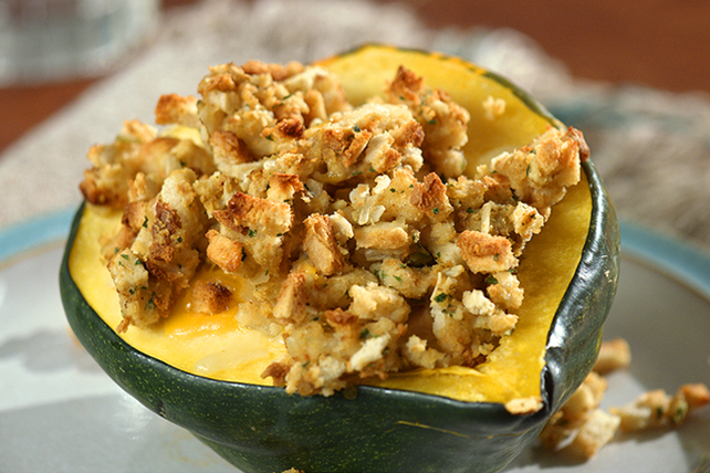 Turkey Dinner in a Squash Bowl Image 1
