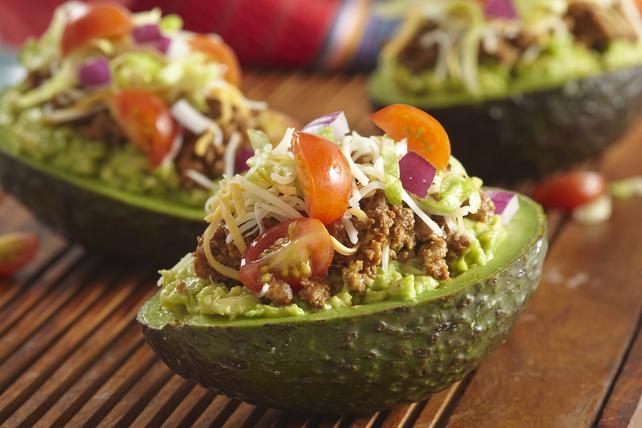 Avocats farcis de garniture à tacos Image 1