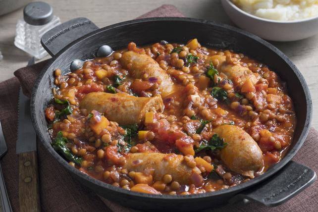 Ragoût de saucisse, de lentilles et de chou frisé Image 1