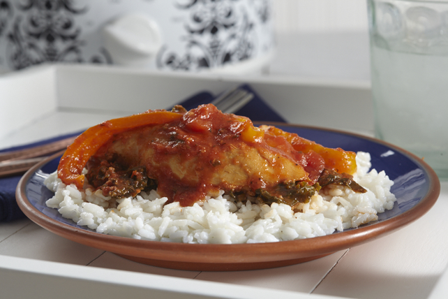 Freeze-Ahead Slow-Cooker Chicken, Kale and Rice Image 1