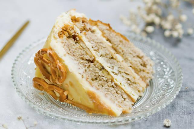 Gâteau étagé au beurre d'arachide et aux bananes Image 1