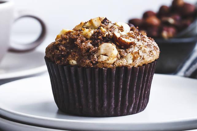 Muffins aux bananes, au chocolat et aux noisettes Image 1