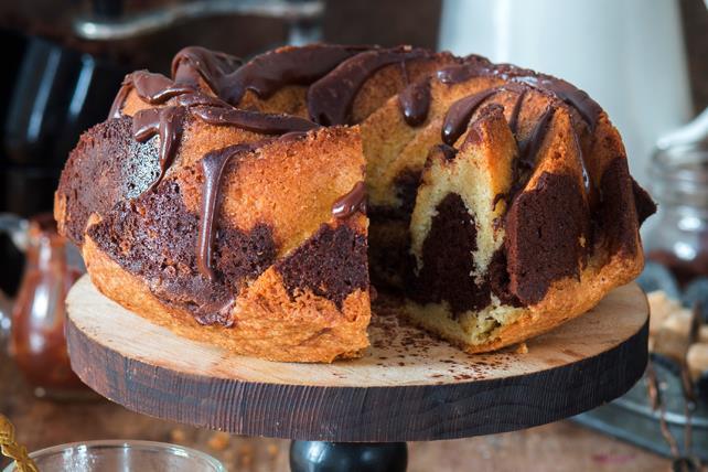 Gâteau marbré au chocolat Image 1