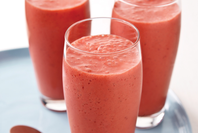 Licuado de yogur y fresas Image 1