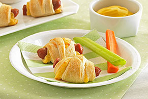 Mini Cheese Dog Wraps
