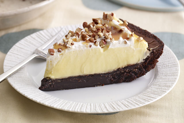 Turtle Brownie Pie Image 1