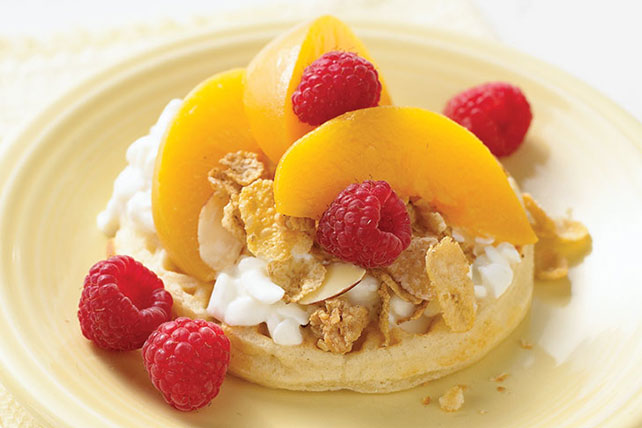 "Peach Melba Breakfast ""Shortcake"" Image 1"