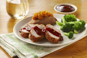 Garlic Pork Tenderloin with Barbecue Sauce