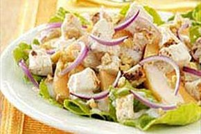 Chicken and Melon Salad with Yogurt Dressing