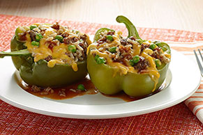 VELVEETA® Fresh Slow-Cooker Stuffed Peppers
