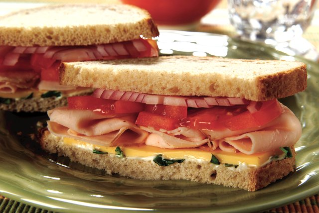 Tasty Turkey & Cheese Sandwich Image 1