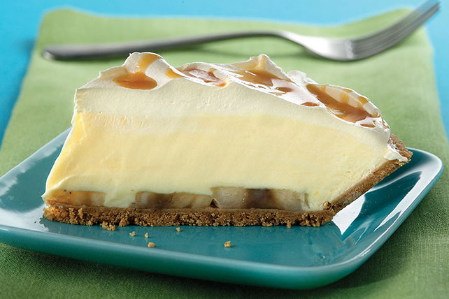 Banana Cream Pie with Caramel Drizzle