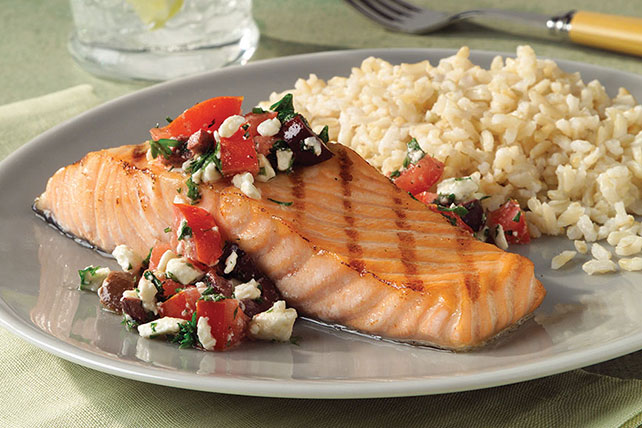 Grilled Salmon with Mediterranean Salsa Image 1