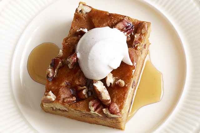 Pumpkin Bread Pudding with Caramel Sauce Image 1