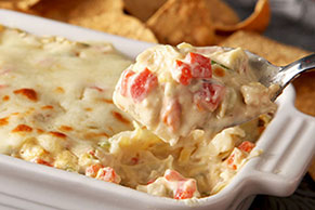 Hot Artichoke and Red Pepper Dip