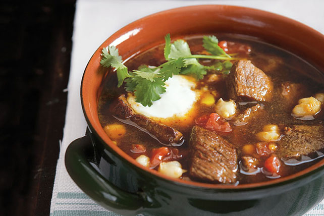 Beef Pozole with Cheddar Cheese Image 1