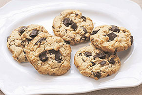 Chocolate Peanut Butter-Oatmeal Cookies