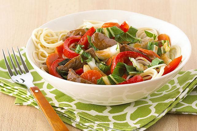 Quick Veggie & Beef Noodle Bowl Image 1