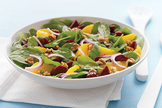 Citrus & Beet Spinach Salad Image 1