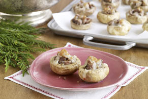 Sausage & Cheese-Stuffed Mushrooms