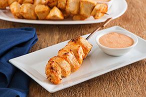 Chicken and Roasted Red Pepper Skewers