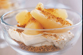 Ginger-Pear Cheesecake Cups