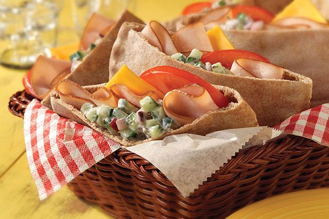 Mediterranean Turkey Pita Sandwich Image 1