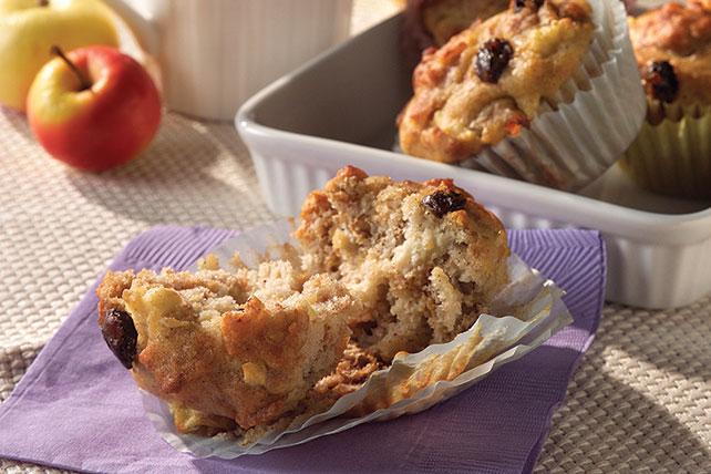 Molletes (muffins) de salvado con pasas y manzanas Image 1