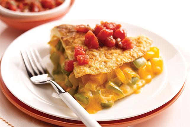 Omelette de queso y pimientos Image 1