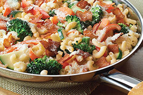 Creamy Bacon Vegetable Pasta Skillet